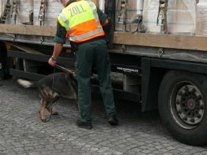 Zoll-Hund hat angeschlagen / Bild: HZA